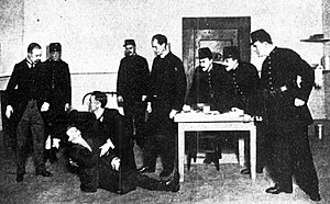 The Hooligan - 1911 photograph of the play's dénouement