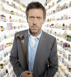 Dr House with Walking Stick