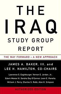Iraq Study Group bipartisan panel appointed by the United States Congress