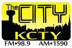 KCTY (AM) - Image: KCTY The City 1590 98.9 logo