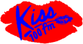 Kiss 100's logo from 1990 to 1998.