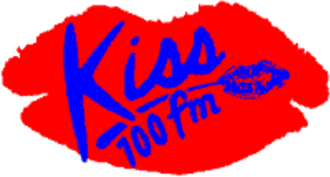 Kiss (UK radio station) - Kiss 100's iconic logo from 1990 to 1998