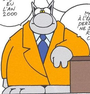 Le Chat - Image: Le Chat by Philippe Geluck. 1999