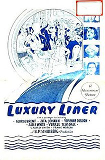 <i>Luxury Liner</i> (1933 film) 1933 American drama film directed by Lothar Mendes