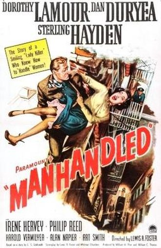 Manhandled (1949 film) - Theatrical release poster