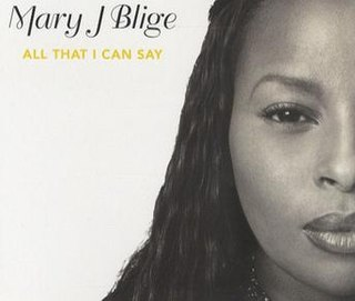 All That I Can Say single by Mary J. Blige