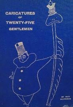 Caricatures of Twenty-five Gentlemen - The Cover of the first edition of Caricatures of Twenty-five Gentlemen (1896)