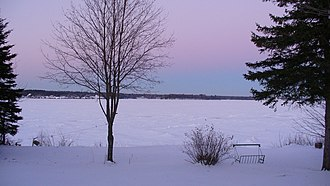 Miramichi River - Miramichi River in the winter.