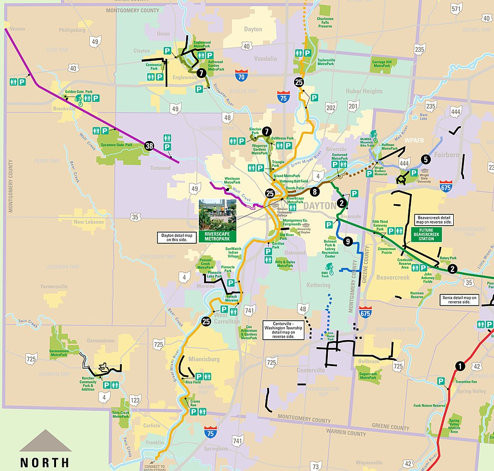 Montgomery County OH USA Recreation Trail Map