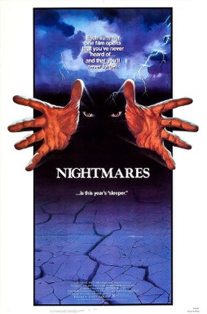 Nightmares (1983 film) - Theatrical poster designed by Design Projects, Inc.
