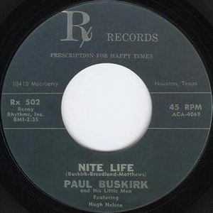 Night Life (Willie Nelson song) - Image: Nite Life (Rx Records)