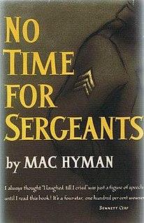 <i>No Time for Sergeants</i> book by Mac Hyman