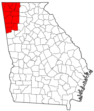 Northwest Georgia (U.S.) - Image: Northwest Georgia