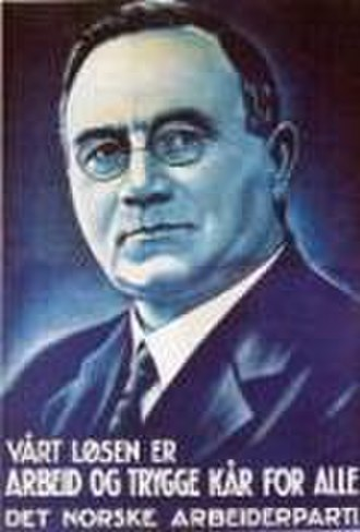 Johan Nygaardsvold - Nygaardsvold campaign poster