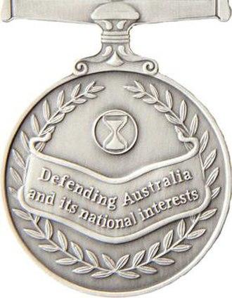 Australian Operational Service Medal - Image: OSM reverse