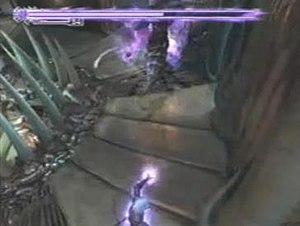Onimusha 2: Samurai's Destiny - Jubei attacks Ginghamphatts in his Onimusha state. When the purple bar disappears, Jubei will return to his human form.