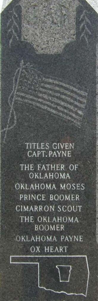 Oklahoma Territory - Gravestone of David L. Payne