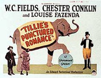 Tillie's Punctured Romance (1928 film) - Theatrical poster