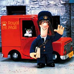 Postman Pat and his black and white cat in the original programme.