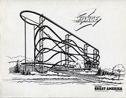 Promotional image of the Z Force roller coaster in 1985.jpg