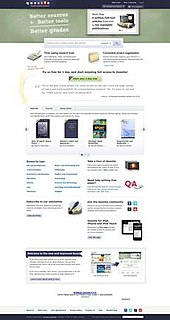 Questia Online Library Online research library.