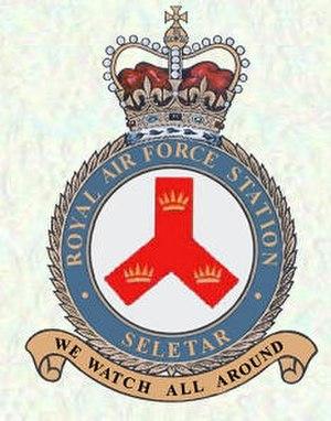 Seletar Airport - RAF Seletar Crest Badge