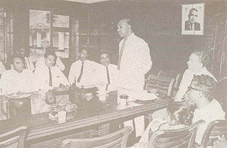 Radio Ceylon - Director General Neville Jayaweera in the boardroom of Radio Ceylon.