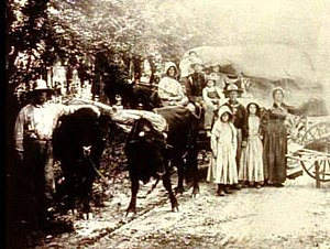 Sager orphans - The Sager family at the beginning of their journey west