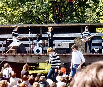 Scars (band) - The original Scars lineup performing live at the Meadows Festival in 1979, featuring original drummer Calumn Mackay