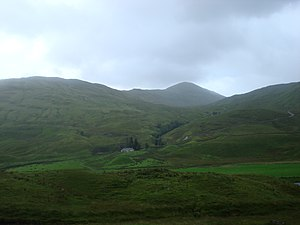 Sgiath Chùil - Sgiath Chùil and the Lubchurrin cottage from the north in Glen Lochay