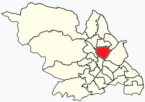 Burngreave (ward) - Image: Sheffield wards Burngreave