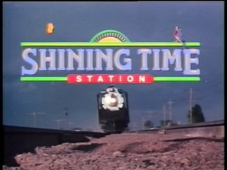 Shining Time Station - The Shining Time Station title screen with UP 844