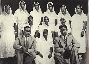 Capildeo family - Image: Sogee Capildeo Maharaj with 9daughters 2sons