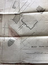 Block plan of the proposed site for the Assembly Rooms, c.1895