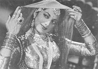 Suraiya - Image: Suraiya in film 'Shama Parwana' in 1954