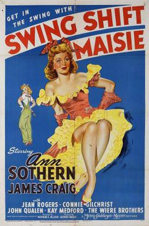 Swing Shift Maisie - Image: Swing Shift Maisie Film Poster