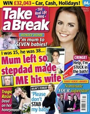 Take a Break (magazine) - Image: Take a Break (magazine) cover