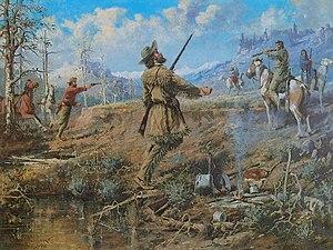 John Bozeman - The Death Of John Bozeman by Edgar Samuel Paxson