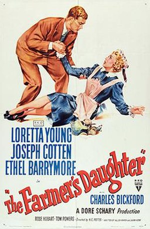 The Farmer's Daughter (1947 film) - theatrical release poster