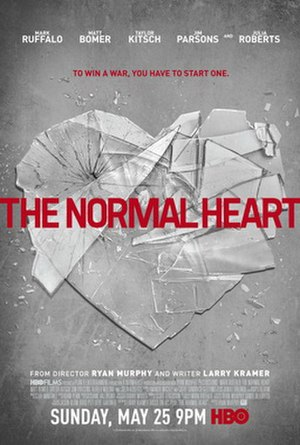 The Normal Heart (film) - Television release poster
