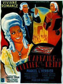 <i>The Queens Necklace</i> (1946 film) 1946 French film directed by Marcel LHerbier
