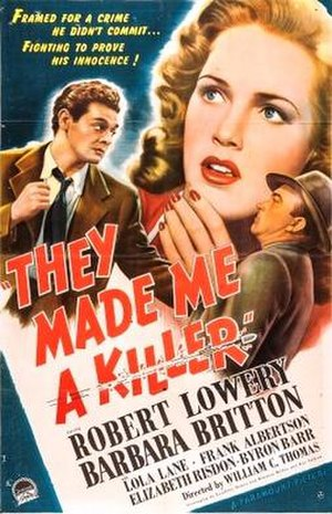They Made Me a Killer - Theatrical release poster
