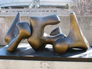 <i>Three-Piece No. 3: Vertebrae (Working Model)</i> sculpture by Henry Moore (LH 579, Hirshhorn Museum and Sculpture Garden)