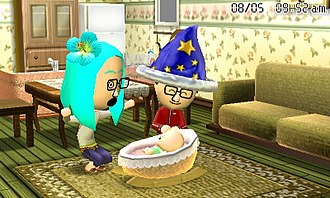 Life simulation game - Tomodachi Life is a good example of a life simulation game.