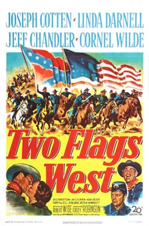 Two Flags West - Theatrical release poster