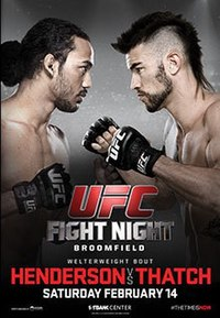 A poster or logo for UFC Fight Night: Henderson vs. Thatch.