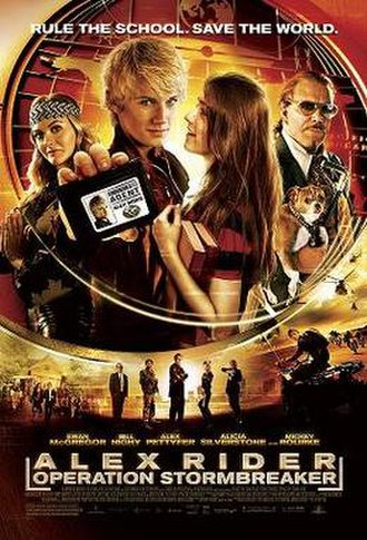 Stormbreaker (film) - The United States poster showing the change of title from Stormbreaker to Alex Rider: Operation Stormbreaker.