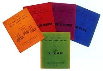 Une semaine de bonté - All five of the original volumes of Une semaine de bonté.