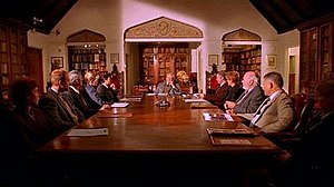 Watcher (Buffy the Vampire Slayer) - The Watchers' Council, assembled at their headquarters