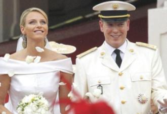 Wedding of Albert II, Prince of Monaco, and Charlene Wittstock - Albert II, Prince of Monaco, and Charlene Wittstock on their wedding day.